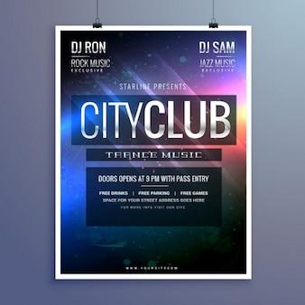 Amazing club music party flyer uitnodigingssjabloon