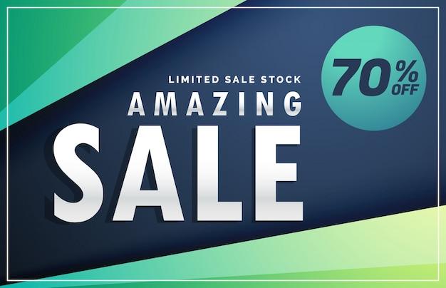 Amazing verkoop banner kortingsbon design template