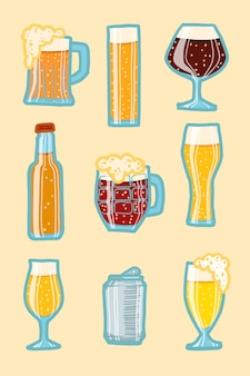 Ambachtelijke bier icon set