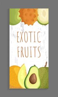 Ambarella kiwano, papaya melon, avocado brochure