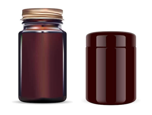 Amberkleurige glazen fles