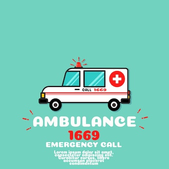 Ambulance auto vector