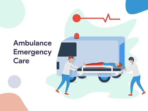 Ambulance emergency care illustratie
