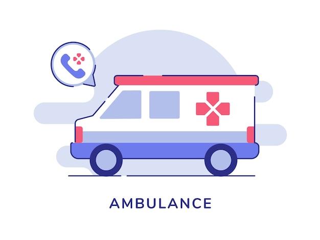 Ambulancevervoer op wit wordt geïsoleerd dat