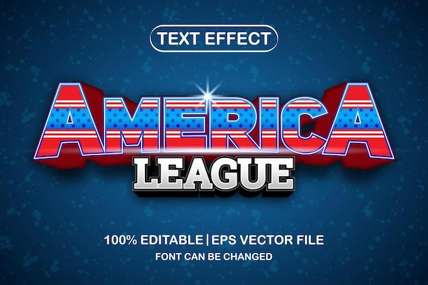 America league 3d bewerkbaar teksteffect