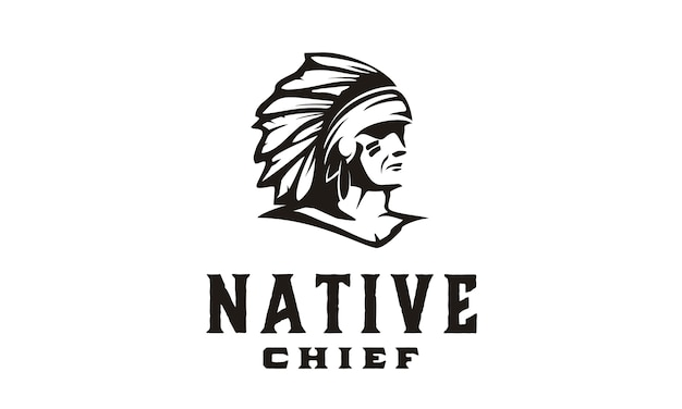 America native / indian chief illustratie