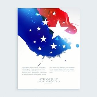 American 4 juli flyer ontwerp