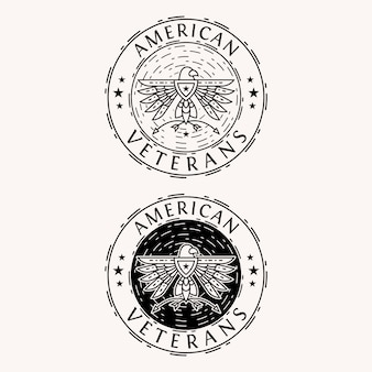 American eagle badge-logo