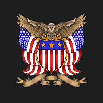 American eagle insignia illustratie vector