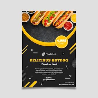 American food restaurant flyer-sjabloon