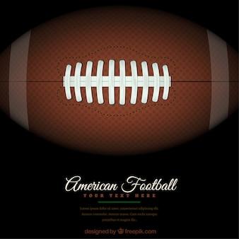 American football achtergrond met bal op het groene veld
