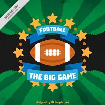 American football achtergrond met gele sterren
