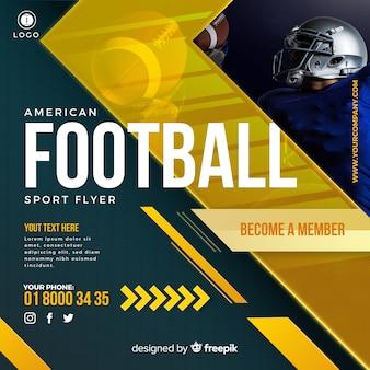 American football-flyer