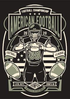 American football-illustratie