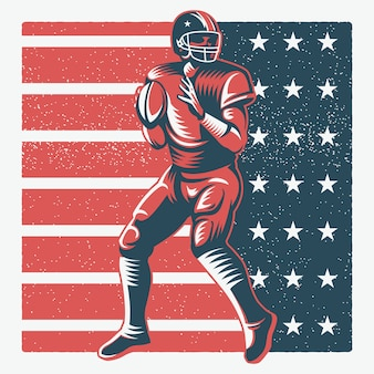 American football player illustratie