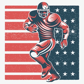American football player illustratie