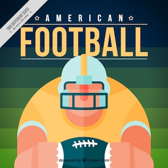 American football-speler achtergrond in plat design