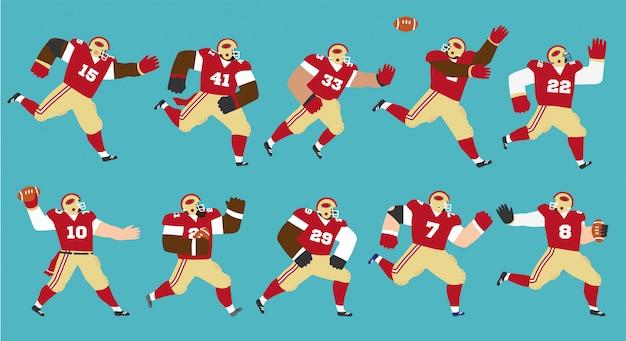 American football-speler ingesteld