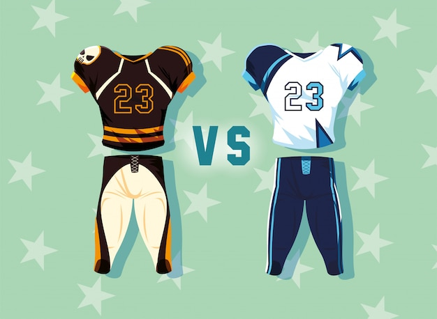 American football speler outfit sportpak