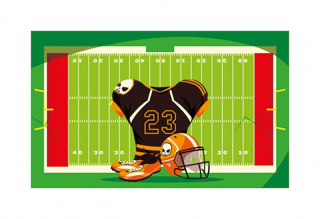 American football speler outfit sportpak,
