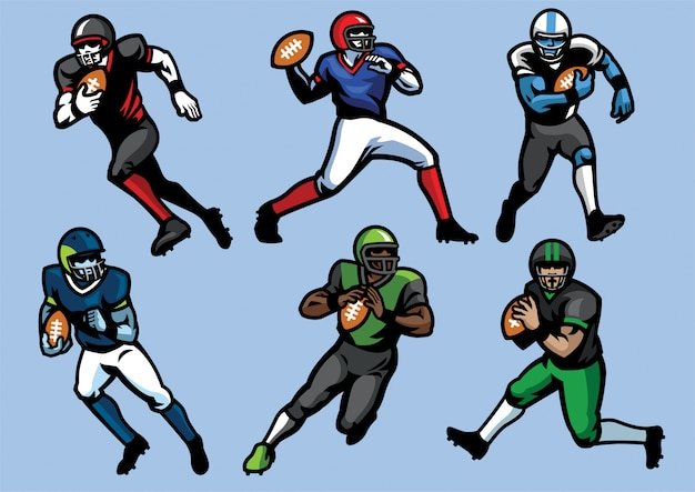 American football speler set