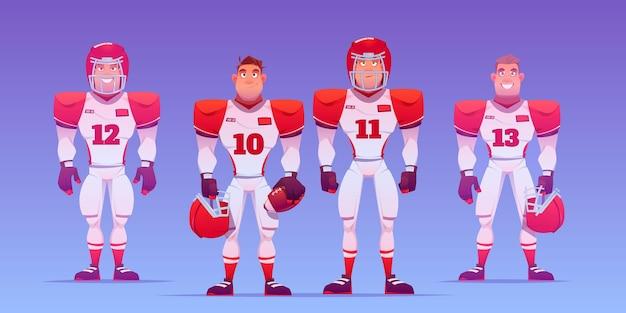 American football-spelers geïllustreerd