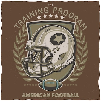 American football trainingsprogramma poster