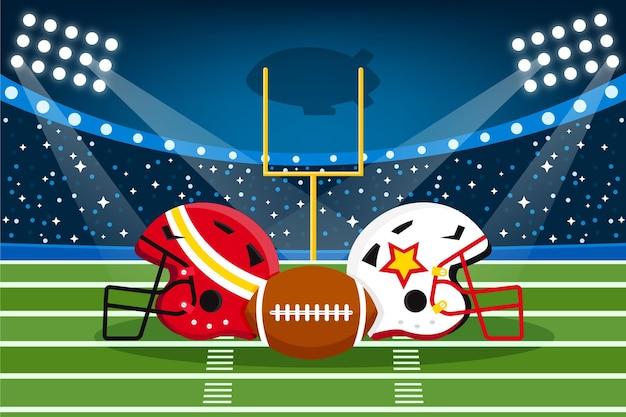 American football-uitrusting geïllustreerd