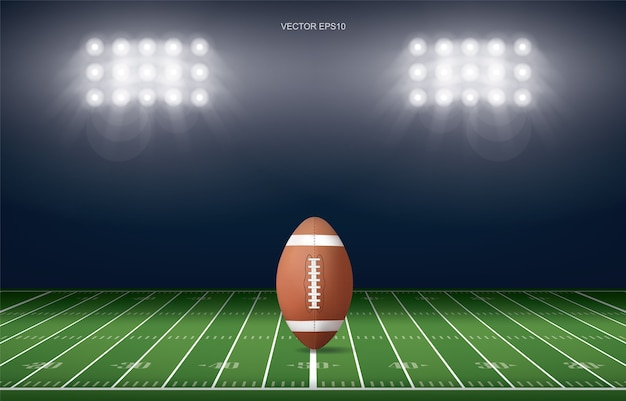 American football veld stadion achtergrond