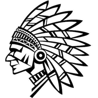 American indian chief vector illustratie