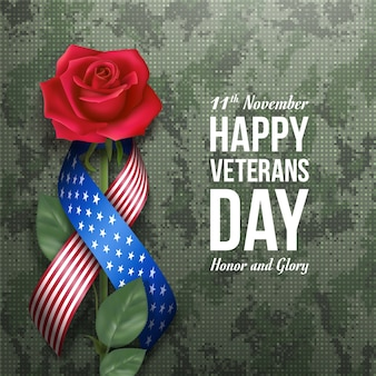 American veterans day wenskaart