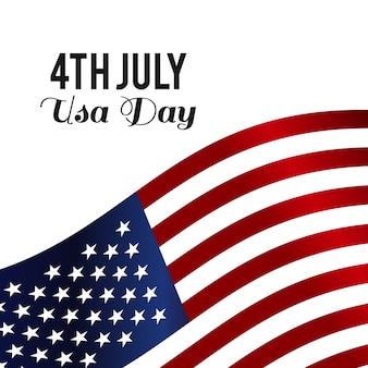 Amerika gelukkige onafhankelijkheidsdag