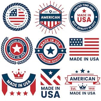 Amerika vector label voor spandoek, poster