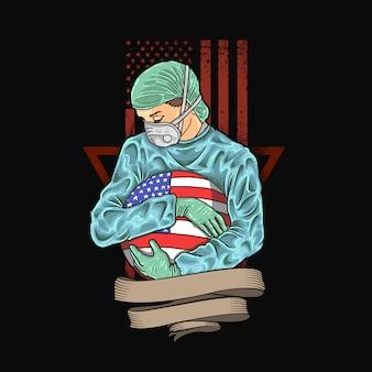 Amerika weer gezond maken illustratie
