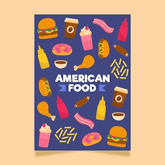 Amerikaans eten flyer-sjabloon