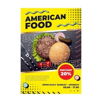 Amerikaans eten flyer-sjabloon
