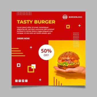 Amerikaans eten in het kwadraat flyer