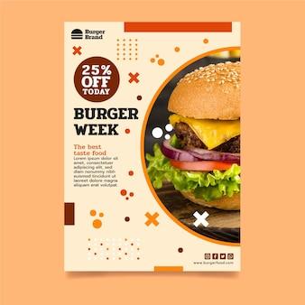 Amerikaans eten poster sjabloon poster