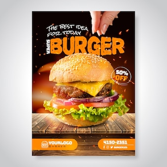 Amerikaans eten poster