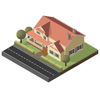 Amerikaans huisje, klein houten huis
