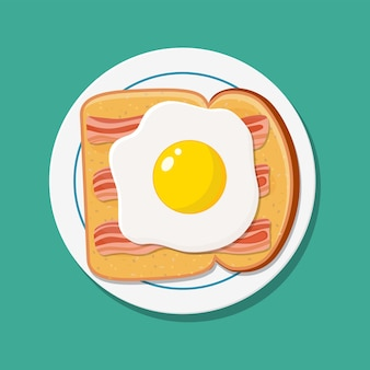 Amerikaans ontbijt eten