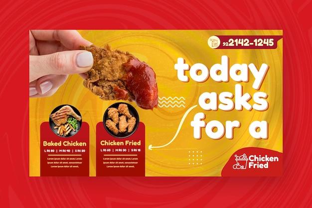Amerikaans voedsel banner ontwerpsjabloon