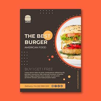 Amerikaans voedsel flyer concept
