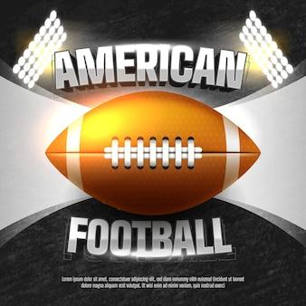 Amerikaans voetbal bal sjabloon