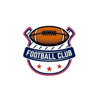 Amerikaans voetbal embleem sjabloon