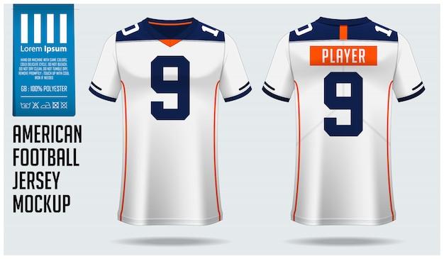 Amerikaans voetbal jersey of voetbal kit sjabloonontwerp