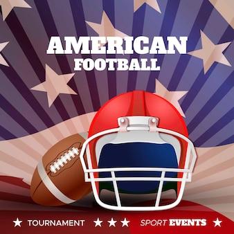 Amerikaans voetbal realistisch ontwerp