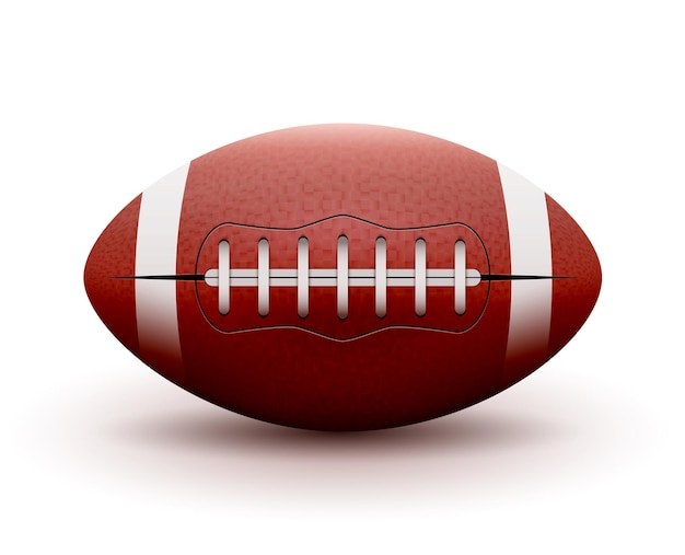 Amerikaans voetbal. rugby spel. sport illustratie amerikaans voetbal.