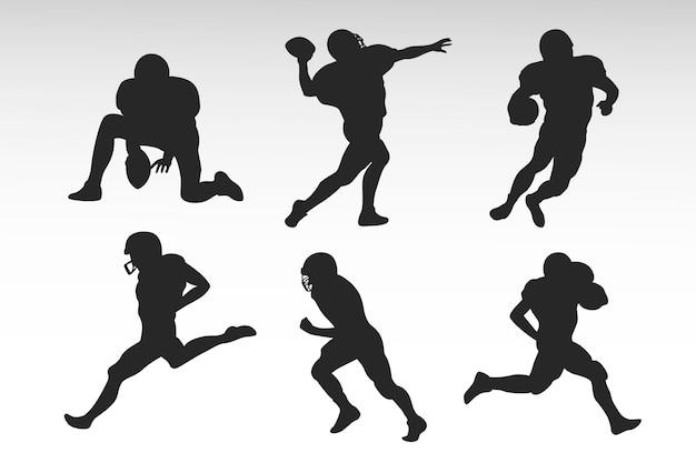 Amerikaans voetbal silhouetten ontwerp