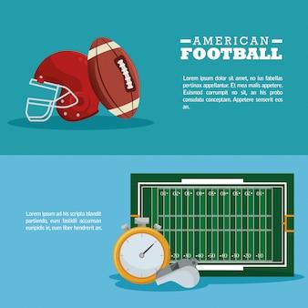 Amerikaans voetbal sport banner